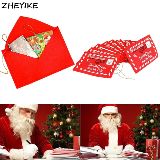 FLYDREAM 2019 New Christmas Series Santa Claus Letter Red Envelope