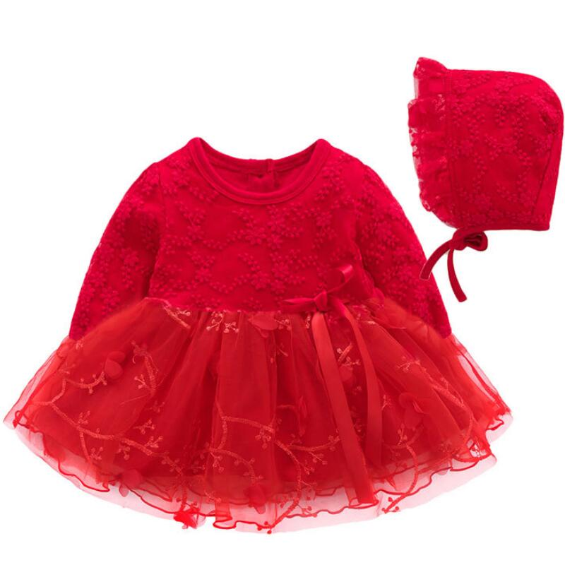 Newborn Baby Girl 0-1 Year Birthday Dress Petals Tulle Toddler Girl Christening Dress Infant Princess Party Dresses For Girls