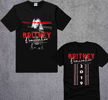 New Britney Spears DOMINATION tour 2019 las vegas black T-shirt size S to 3XL Tops Tees Printed Men T Shirt