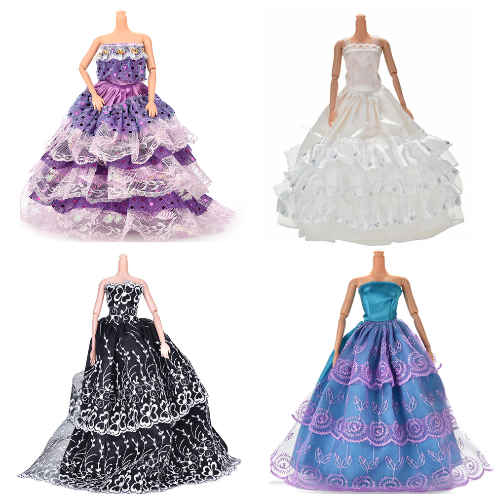 Pizies 1pc Beautiful Fashion Handmade Dresses Clothes For Doll Dolls Clothes Outfits Girls Gift Accessories Random Color Dolls & Stuffed Toys Toys & Hobbies
