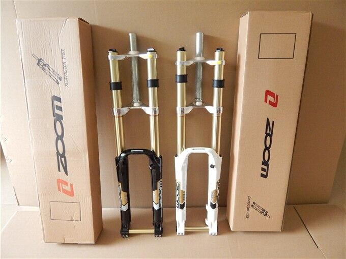 ZOOM downhill bike dh magnesium alloy suspension fork 26 inch mountain bike mtb forks adjustable 20MM
