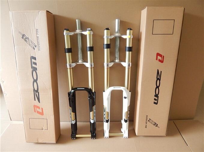 Зум Горные велосипед DH магниевого сплава амортизационная вилка/26 дюймов горный велосипед mtb форкс Регулируемый 20 мм баррель вал диск вилки