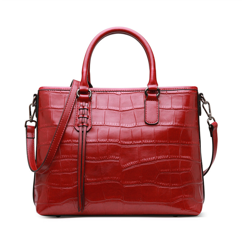 Nesitu High Quality Black Red Brown Split Leather Women Handbag Office Work Lady Shoulder Bag Messenger Bags Female Tote #M0909 hualing rscw 298 wet dry lady shaver red brown