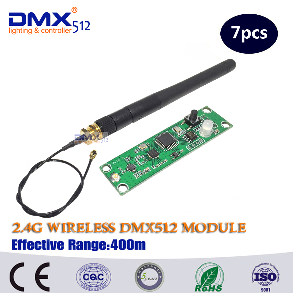 DHL Fast Free Shipping PCB 2.4ghz module  DMX 512 wireless receiver / Wireless Module of DMX512 stage light