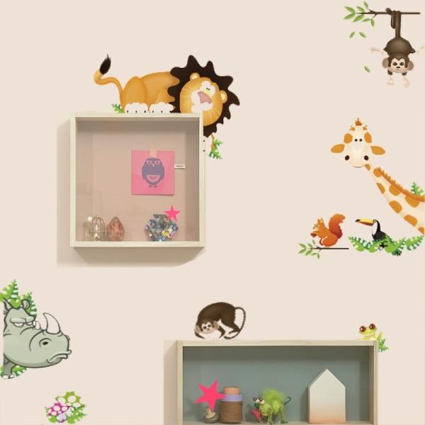 Cute Animal Live in Your Home bricolaje pegatinas de pared / - Decoración del hogar - foto 2