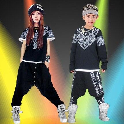 2018 nuovo Hip Hop bambino Tavolo Hip Hop Pantaloni Costume del bicchierino  manicotto Hip Hop Danza Costume Per Le Donne in 2018 nuovo Hip Hop bambino  ... 768e8b59f352
