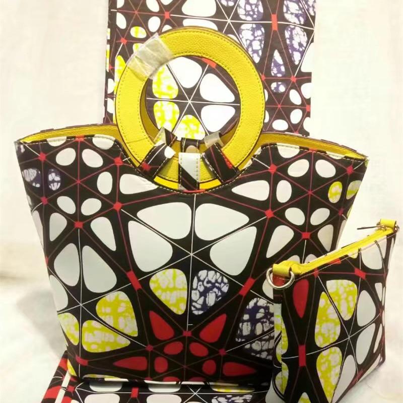 African New Fabric Wax Ladies font b Handbag b font New Fashion Summer Cotton Wax Patchwork