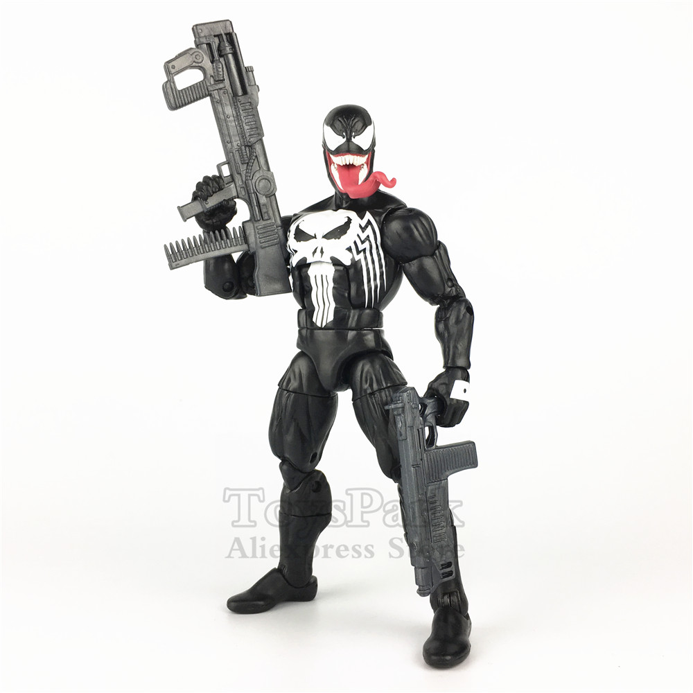 "Marvel Legends Venomized Punisher 6"" Frank Castle Venom Action Figure Marvel Unlimited reward 2019 Membership Kit Doll Toys-in Action & Toy Figures from Toys & Hobbies    1"