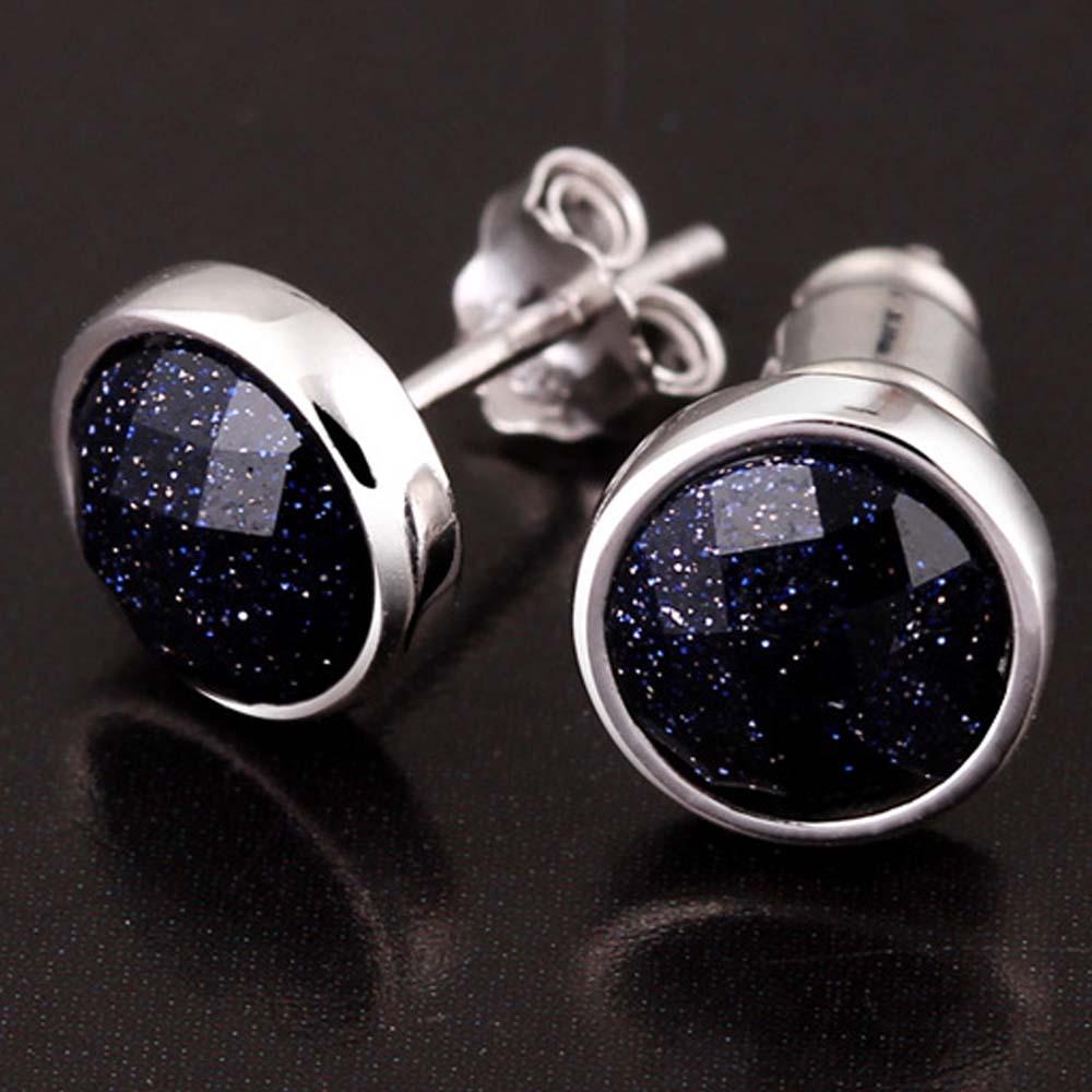 LUBINGSHINE 1 Pair Blue Black Stone Womens
