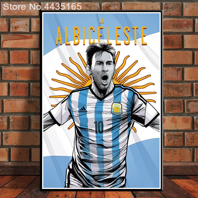 30x45 S821 Brazil 2014 World Cup Argentina Messi