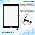 100% probado para el ipad mini2 táctil digitalizador para el ipad mini 2 lcd pantalla de vidrio con flex cable + herramientas 10 unids/lote HK envío gratis