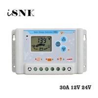 30A 12V 24V Solar Charge Controllers Regulator LI LI ION NI MH LiFePO4 Battery 11.1V 12.8V 22.2V 25.6V