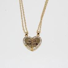 1/пара женское ожерелье с маленьким сердцем