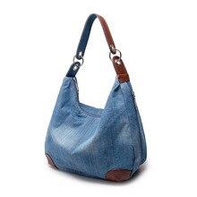 2017 frauen Große Kapazität Handtaschen Frauen Tasche Designer Damen Handtaschen Große Geldbörsen Jean Denim Tote Crossbody Frauenschulterbeutel