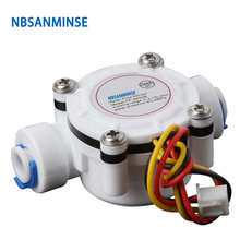 NBSANMINSE SMF-S402B 6mm 3-24V Water flow sensor High Quality Used for Water heaters Campus swipe machine Coffee machine nbsanminse smj b1 turbine flow meter sensor for water heater dispenser coffee machine 4 points 6 points copper interface
