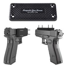 1X Pistol Rifle Jacht Verborgen Magnetische Pistool Houder Holster Pistool Magneet Voor Auto Onder Tafel Nachtkastje Frame Dragende 17 kg