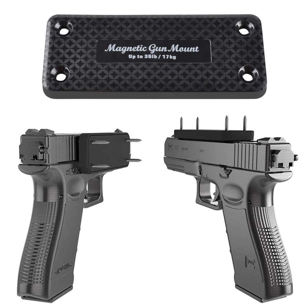 1X Pistol Rifle Hunting Concealed Magnetic Gun Holder Holster Gun Magnet For Car Under Table Bedside Frame Load Bearing 17 KG