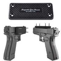 1X Pistole gewehr Jagd Verdecktem Magnet Gun Halter Holster Pistole Magnet für Auto Unter Tisch Nacht rahmen Last lager 17 KG