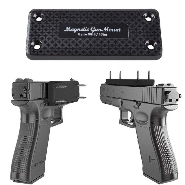 1X pistolet karabin polowanie ukryty magnetyczny uchwyt pistoletu kabura pistolet magnes do samochodu pod stołem nocna rama nośna 17 KG