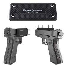 1X אקדח רובה ציד הסתיר מגנטי בעל אקדח נרתיק אקדח מגנט לרכב תחת שולחן ליד מיטת מסגרת עומס נושאות 17 KG