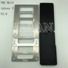 2.0 new version YMJ mold for iphone X laminating unbent flex lcd TP digitizer glass lcd oca adhesive laminate mould