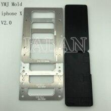 2.0 nuova versione YMJ stampo per iphone X laminazione unbent flex lcd TP digitizer vetro lcd oca adesivo laminato muffa
