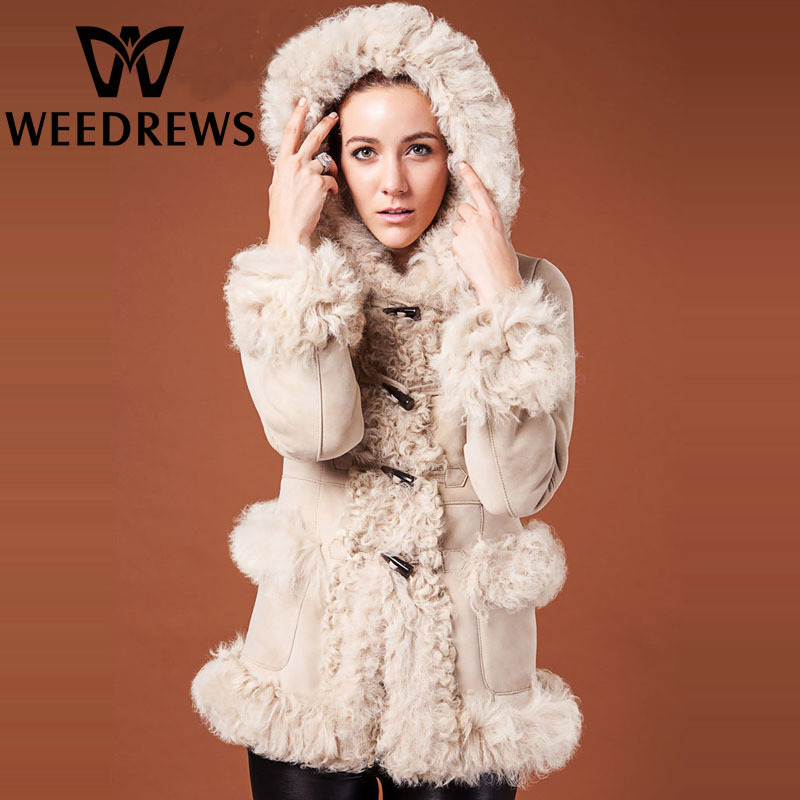 Aliexpress.com : Buy New Genuine Sheepskin Shearling Lamb Fur Coat