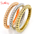 Sunny Jewelry Fashion Jewelry 2017 Cuff Bracelets Bangles For Women Gold Plated Rose Gold Plated Twisted String For Party Daily