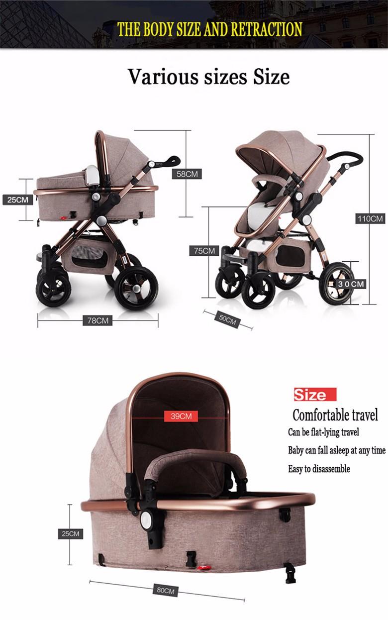 GoldenBaby wózka dziecięcego 2 w 1 3 w 1 szok składany składany newborn baby wózek Rosja darmowa wysyłka 12
