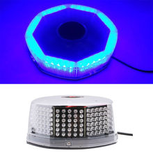 CYAN SOIL BAY 240 LED Super Blue Car Harzard Beacon Emergency Magnetic Strobe Flash Light Bar 12V(China)