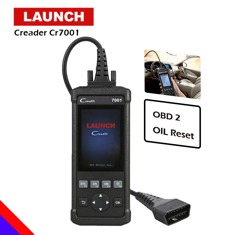 LAUNCH CReader 7001 OBD2/EOBD&CAN Code Reader Scanner Auto OBD 2 Diagnostic Scan Tool Portable Universal for Oil Reset Function reset tool for bmw obd 2