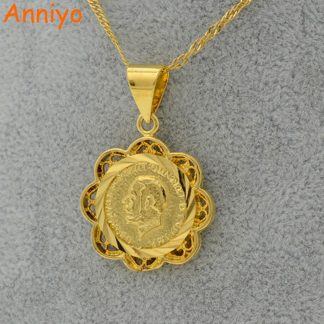 Anniyo coin pendant necklace for women gold color jewelry sudan anniyo coin pendant necklace for women gold color jewelry sudannigeriakenyaeritrea mozeypictures Images