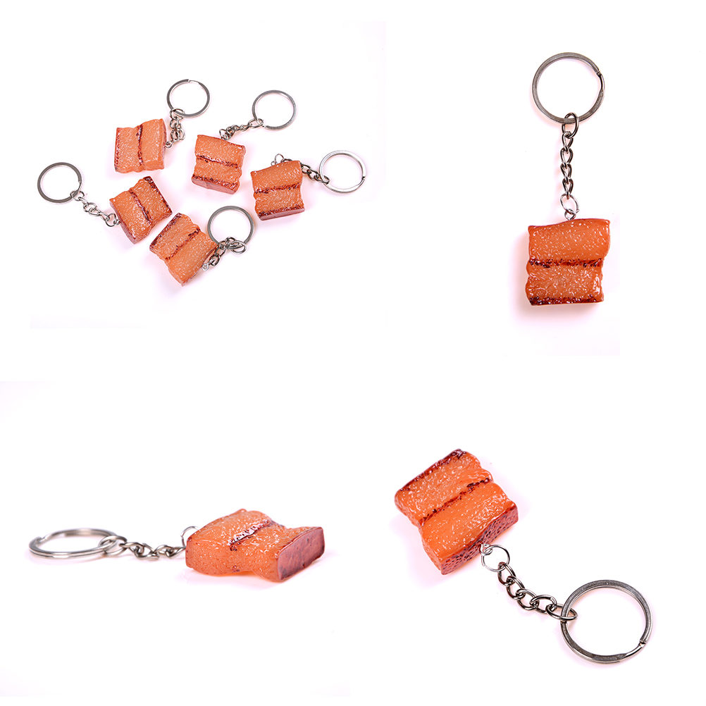 1PCS Kitchen Toy Plastic Fake Food Braise In Soy Sauce Meat keychain ...