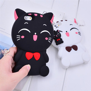 3D Cat Silicon Soft Phone Case For OPPO F5 F7 F1S A31 A33 A35 A37 A59 A71 A73 A75 A79 A83 A5 A3S Cartoon Back Cover Fundas(China)