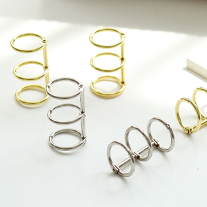 1 Pack Metal Loose Leaf Book Binder Rings Album Scrapbook Clips Craft Photo Album Metal Ring Binder Stationery Office Supply