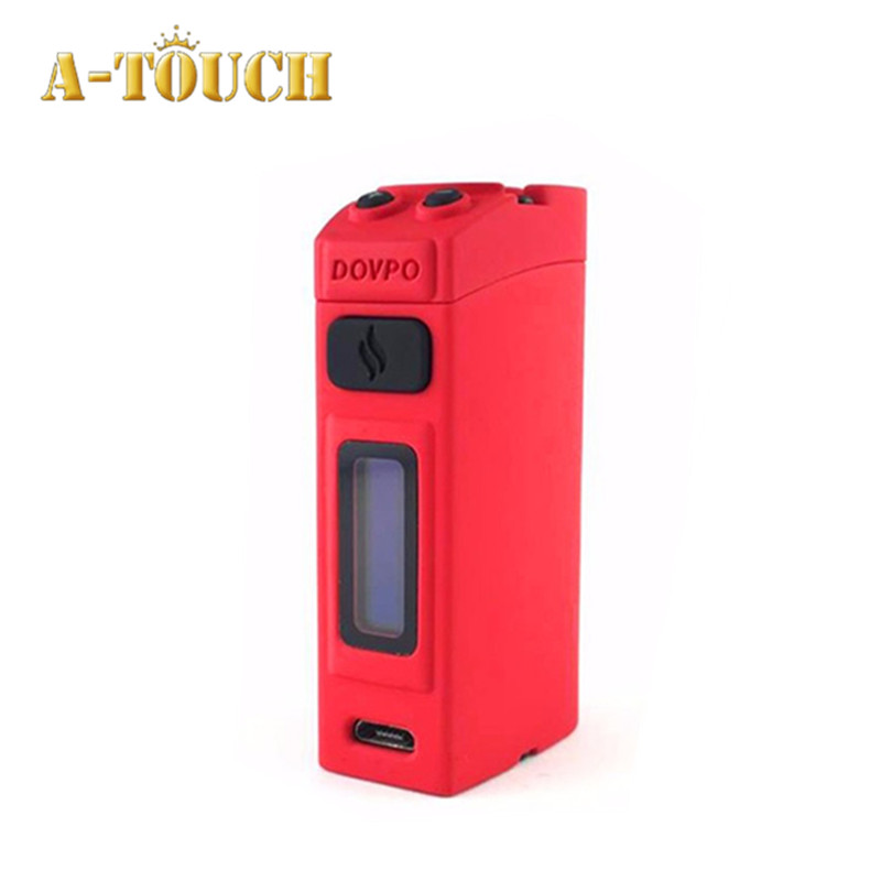 Original Dovpo Ember 50W Kit 0.69inch OLED Screen Box Mod Vape Temperature control 2.5ml Atomizer Tank Vaporizer 1500mah battery