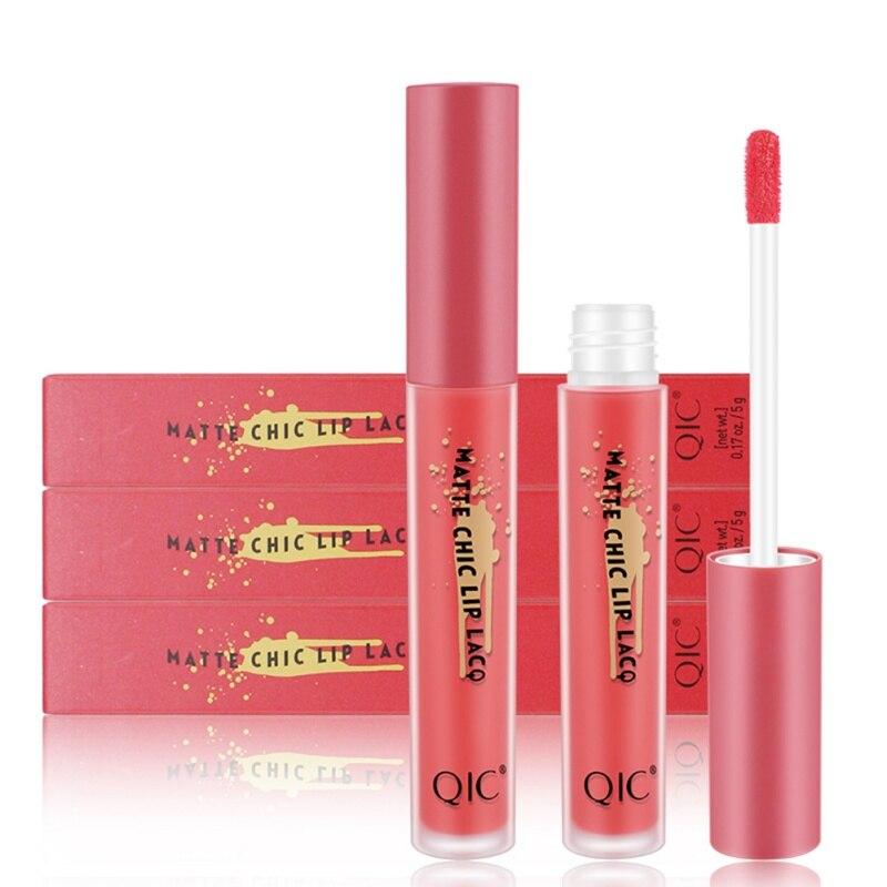 6 Colors New Matte Liquid Lipgloss Moisturizer Smooth Lip Stick Waterproof Long Lasting Lip Gloss Beauty Lipstick Cosmetics 4