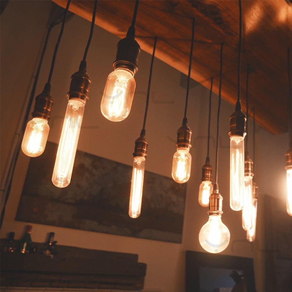E27 Retro Edison Bulb 220V 40W ST64 G95 T10 Ampoule Vintage Bulb Edison Lamp Incandescent Filament Light Bulb ART Deco