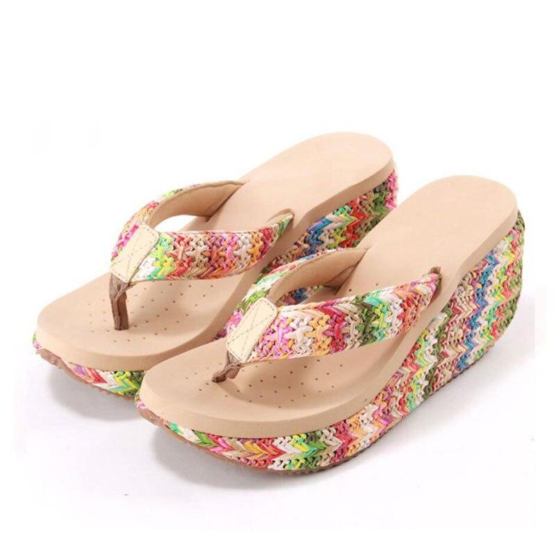Lafite remainings flip flops Ms wedges flip-flops female sponge thick bottom cool fashion slippers