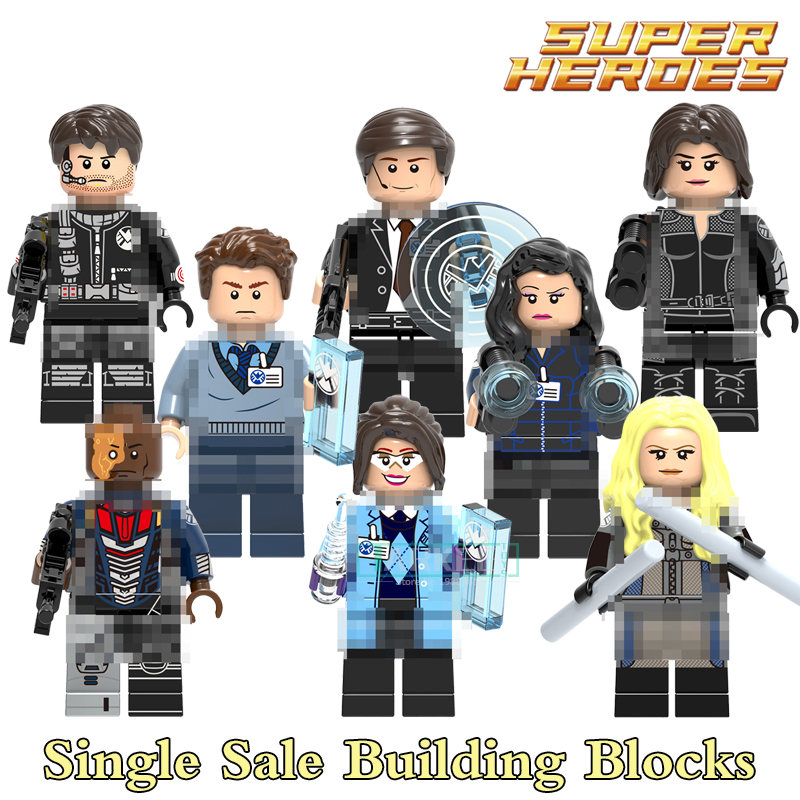 Building Blocks Phil Goulson Mockingbird Grant Ward Jemma Simmons Daisy Melinda May Dearhlok Super Heroes Figure Kids Toy X0182
