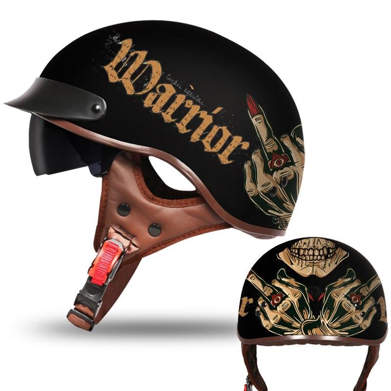 motorcycle helmet classic helemet vespa vintage summer half helmet jet retro capacete casque moto helmet DOT