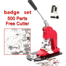 Badge-Maker-Set Button-Badge with 500pcs Pin Free-Paper-Cutter Factory Best-Sale 44/58mm