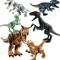 New Jurassic World 2 Park Tyrannosaurs Rex Carnotaurus Indoraptor Building Block Brick Toy Legoinglys 75929 75930 75928 75927