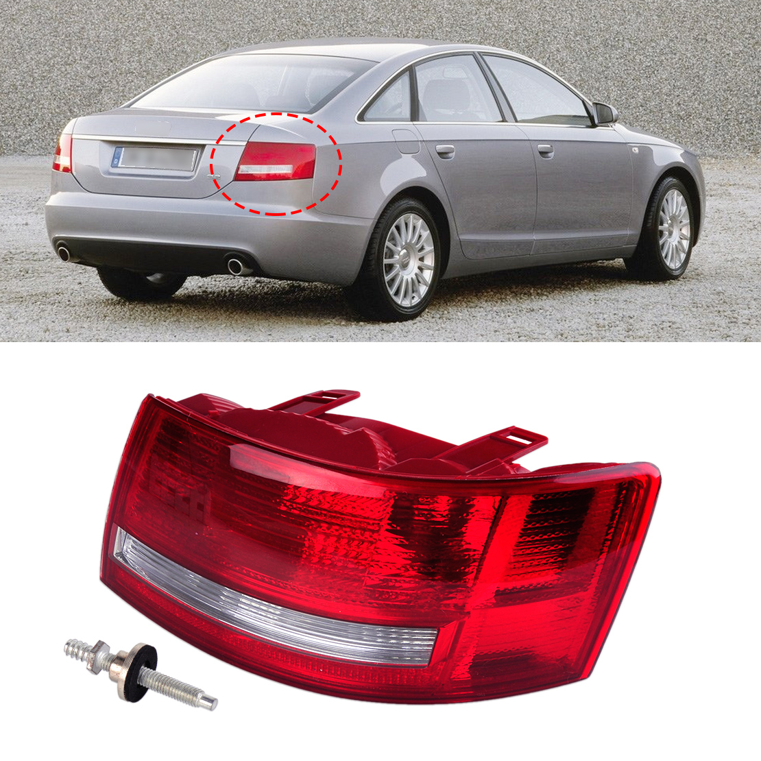 ФОТО Rear Right Light Assembly Lamp Housing without Bulb 4F5 945 096 L 4F5 945 096 D fit for Audi A6 /A6 Quattro Sedan 2005 2006 -08