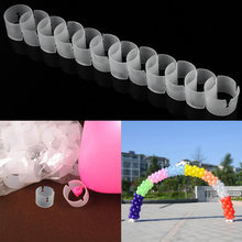 50pcs Balloon Arch Buckle Folder Clips Connectors Party Wedd