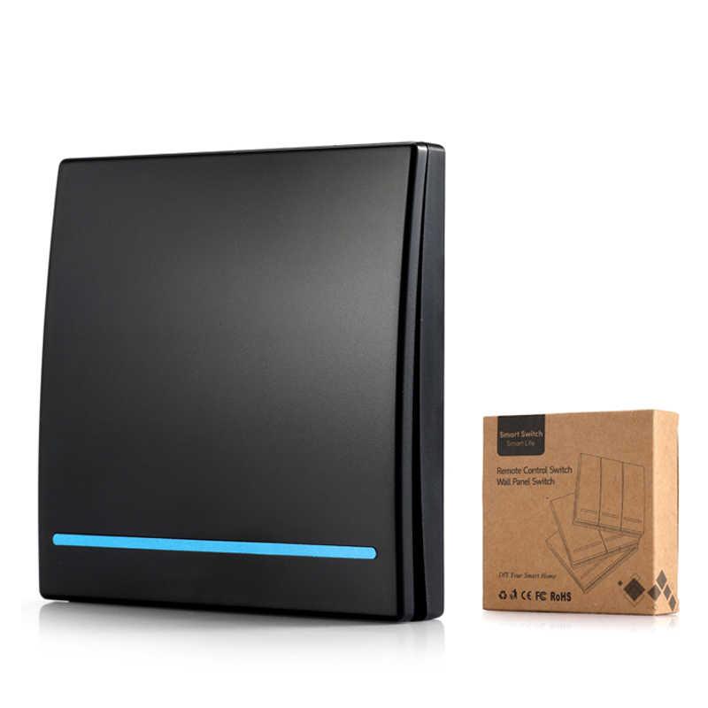QIACHIP Wifi 433Mhz inalámbrico RF receptor de relé Smart Home módulo luces interruptor + interruptor de Control remoto de pared para techo lámpara