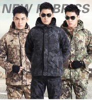 Free Shipping Army Fleece Charge Garments Brand Multi Function Jacket Tactical Camouflage Winter Warm Jackets Outdoor