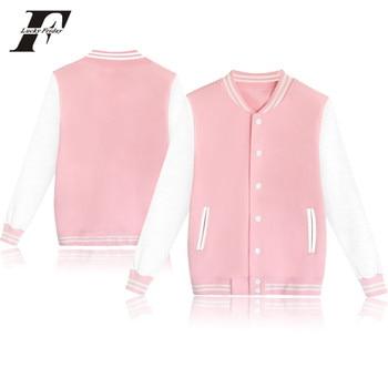 LUCKY FRIDAYF  Baseball coat Women/men Sweatshirt College Sportswear Jacket Jacket k-pop Casual solid color Pullovers XXXXL 1