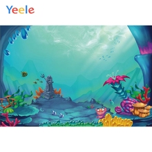 Yeele Underwater World Colorful Coral Fish Portrait Photography Backgrounds Wall Photographic Backdrops Props For Photo Studio
