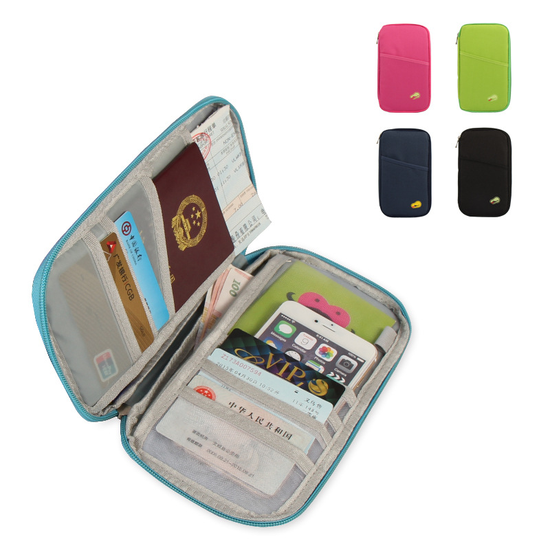 Square Travel Passport Cover Monet Bag Wallet Document Holder Organizer Cover on The Pas ...
